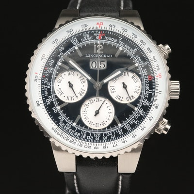 Längengrad Stainless Steel Wristwatch