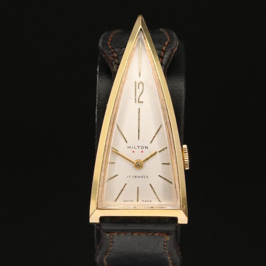 Vintage Swiss Hilton Triangular Wristwatch