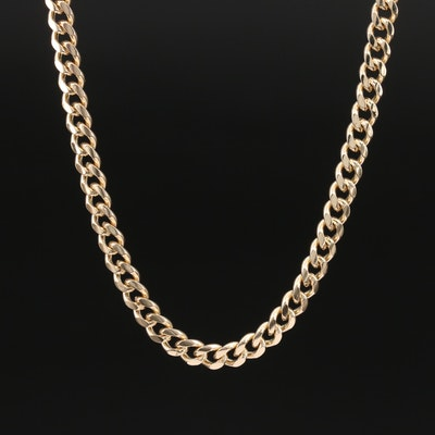 14K Curb Link Necklace