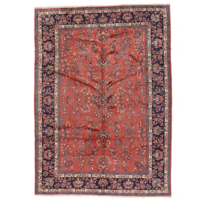 7'11 x 11'5 Hand-Knotted Persian Sarouk Area Rug