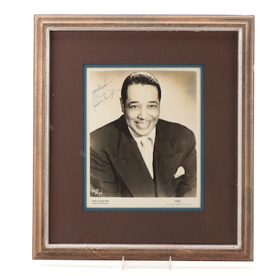 Duke Ellington Signed Promotional Photo Print, Visual COA