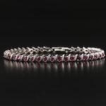 Sterling Garnet S-Link Bracelet