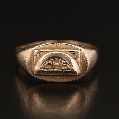 10K Monogrammed Signet Ring
