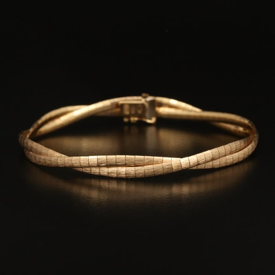 18K Textured Twisted Bracelet