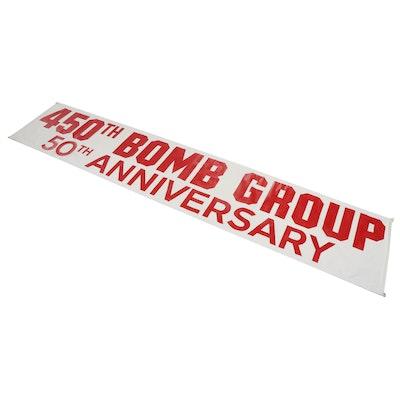 "Custom ""450th Bomb Group 50th Anniversary"" Wall Banner, 1993"