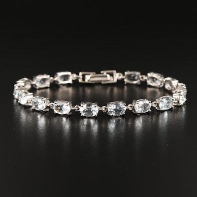 Sterling Aquamarine Bracelet