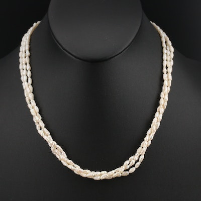 Baroque Pearl Torsade Necklace with 14K Clasp