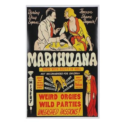 """Marihuana"" Propaganda Giclée Poster, 21st Century"