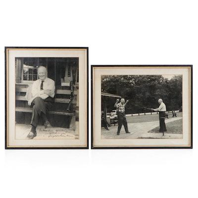 Dwight D. Eisenhower Signed Photo Print, Framed  Visual COA