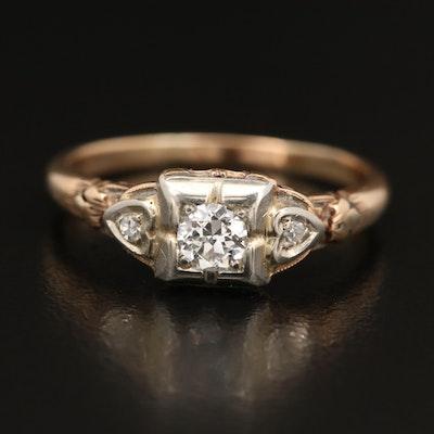 Circa 1930 14K Diamond Ring