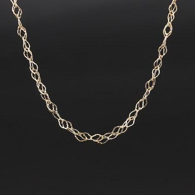 Italian 18K Fancy Link Chain