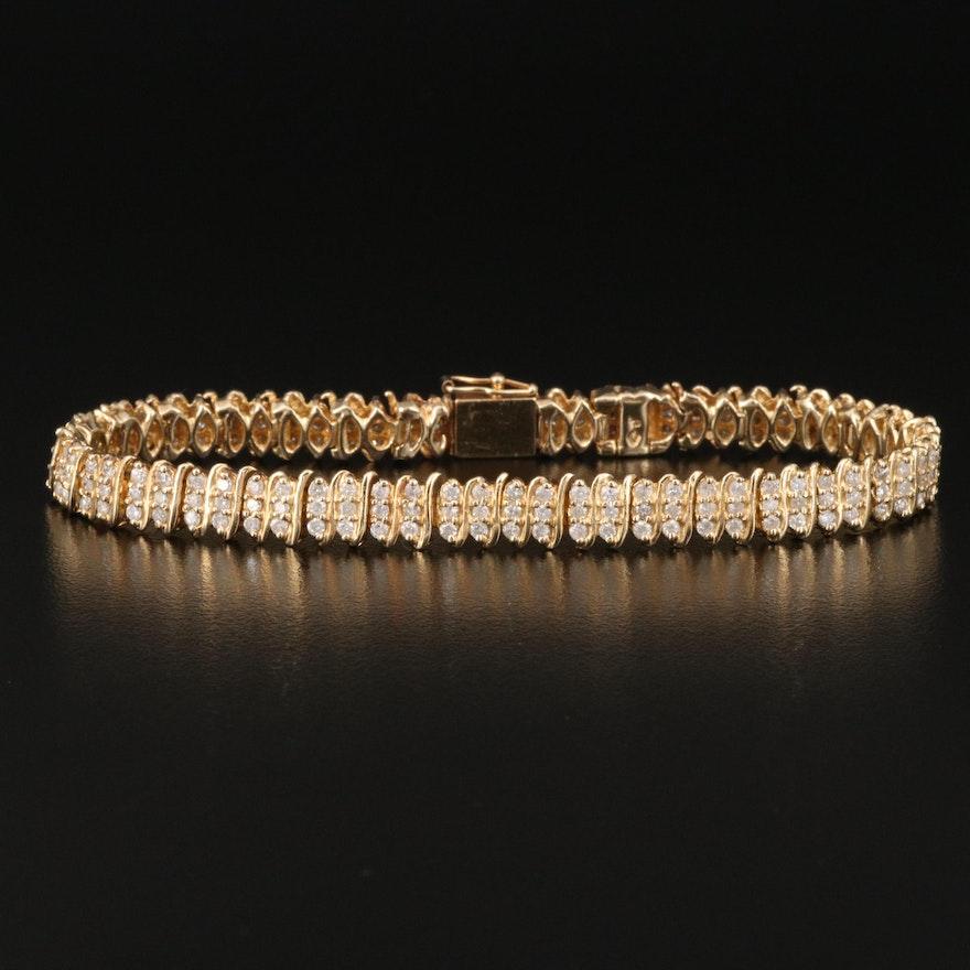 14K 3.06 CTW Diamond Link Bracelet