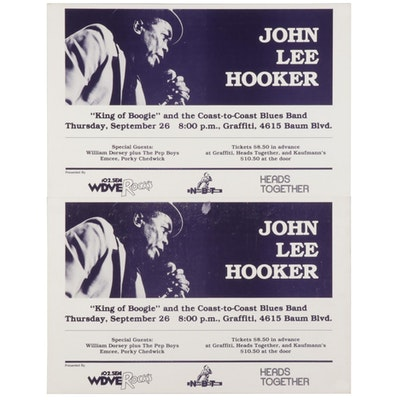 John Lee Hooker Concert Posters, 1985