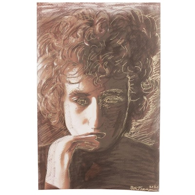 Ruth Freeman Giclée of Bob Dylan Portrait, 2020