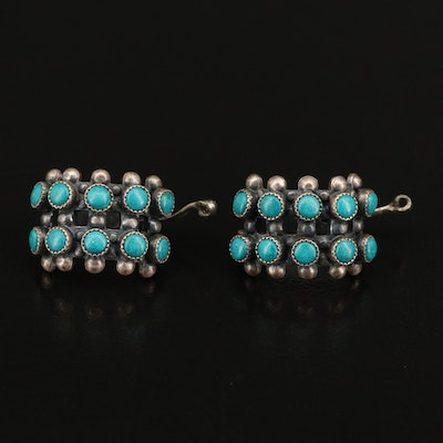Sterling Silver and Faux Turquoise Ear Cuffs