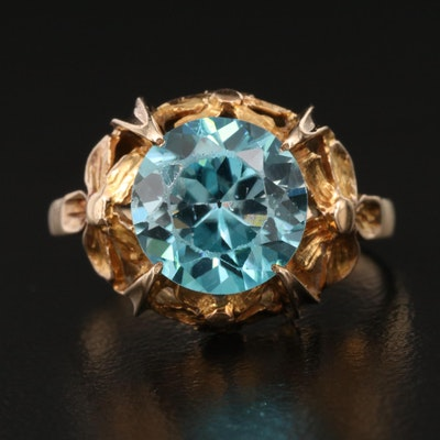 1940s 10K Zircon Ring
