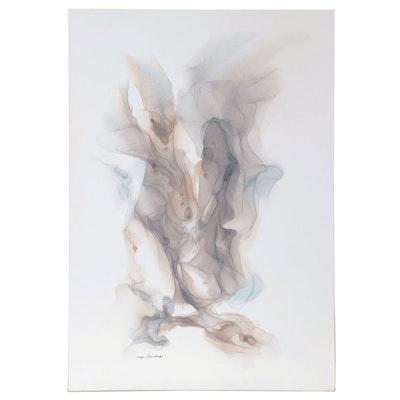 "Inga Kovalenko Abstract Ink Painting ""Number #17,"" 2020"