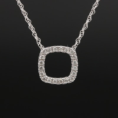 Minimalist 10K Diamond Necklace