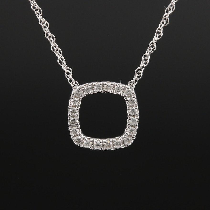 Minimalist 10K Diamond Necklace