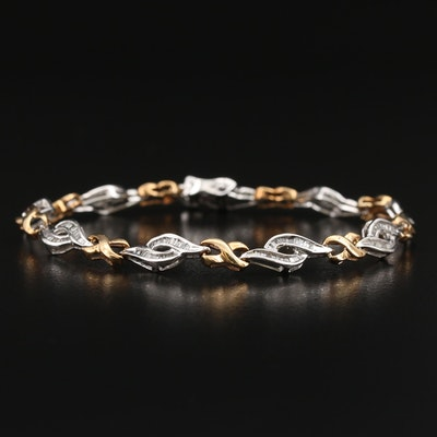 10K Diamond Infinity Motif Link Bracelet