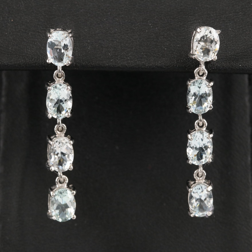 Sterling Aquamarine Earrings