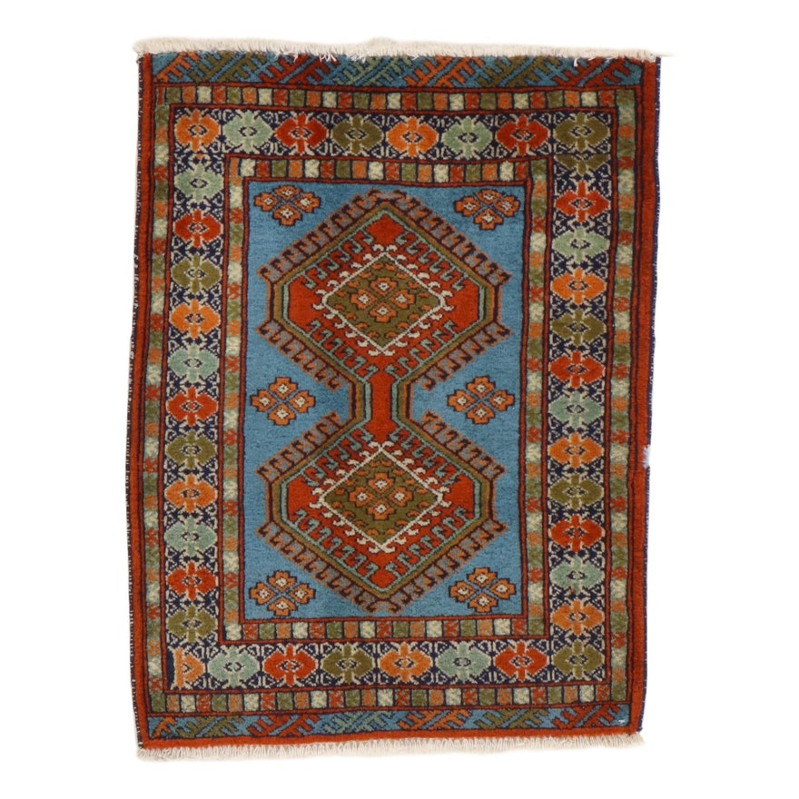 2'2 x 3' Hand-Knotted Persian Ardebil Rug, 1970s