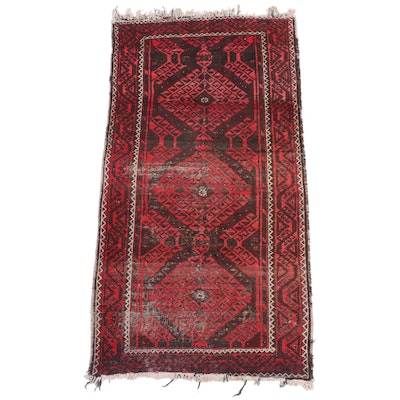 3'6 x 6'8 Hand-Knotted Afghan Baluch Wool Area Rug
