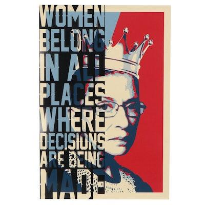 Ruth Bader Ginsburg Pop Art Giclée, 21st Century