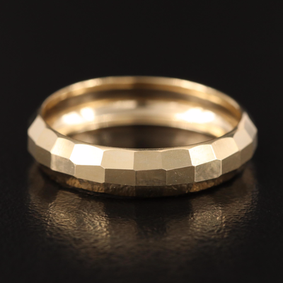 10K Turkish Gold Faceted Band