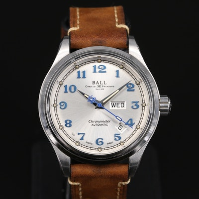 Ball Trainmaster Cleveland Express COSC Stainless Steel Automatic Wristwatch