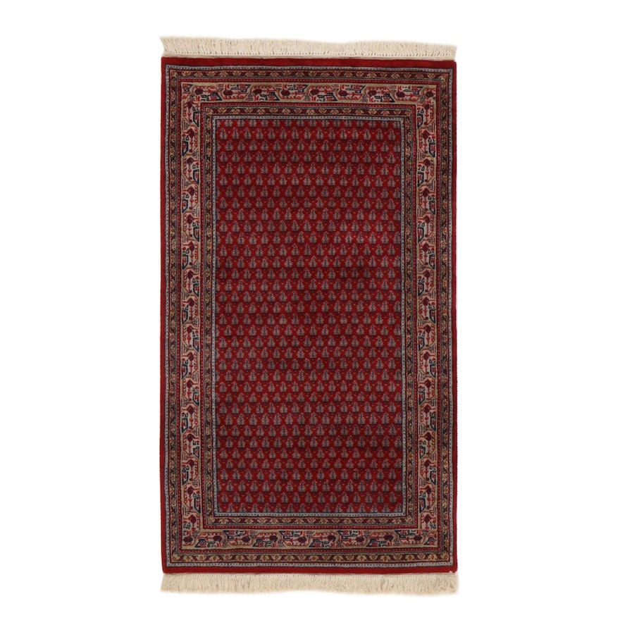 2'11 x 5'7 Hand-Knotted Indo-Persian Mir Sarouk Rug, 2010s