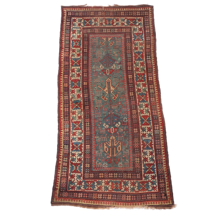 4'4 x 8'5 Hand-Knotted Caucasian Shirvan Area Rug