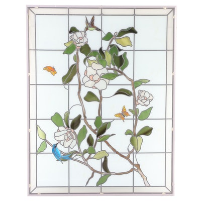 Faux Stained Glass Window Panel