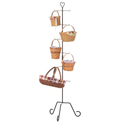 Metal Display Stand with Longaberger Baskets