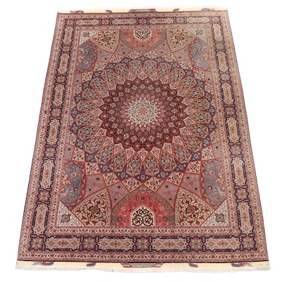 8'3 x 11'10 Hand-Knotted Persian Tabriz Room Sized Rug