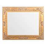 Rectangular Baroque Style Giltwood Framed Wall Mirror