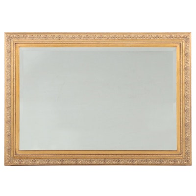 Giltwood and Composition Overmantel Mirror