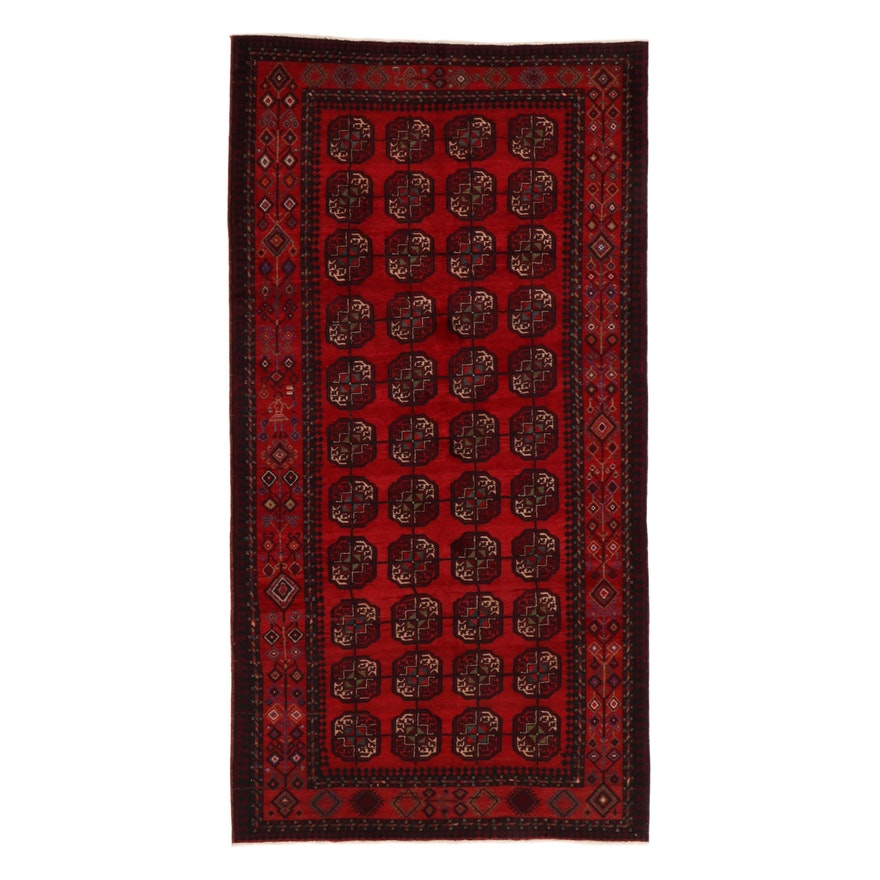 5' x 9'6 Hand-Knotted Persian Turkmen Rug, 1970s