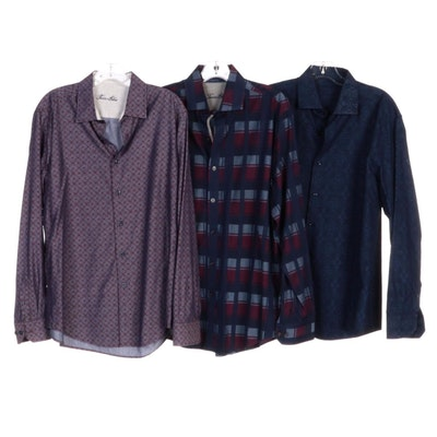 Men's Tasso Elba and Other Plaid, Patterned and Textured Shirts