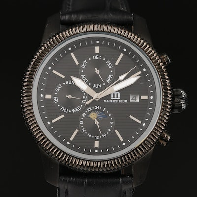 Maurice Blum Triple Date with Moonphase Wristwatch