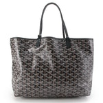 Goyard Black Goyardine Coated Canvas Tote with Matching Pouch