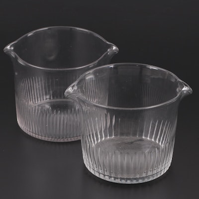 Georgian Double Spout Glass Wine Rinsers, Early 19th Century