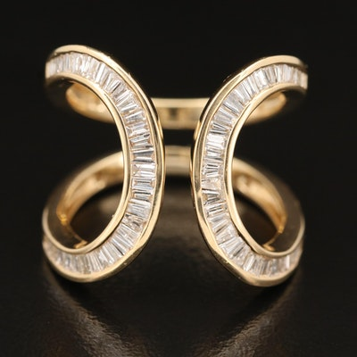 EFFY 14K Diamond Double Open Loop Ring