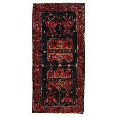 5'1 x 10'7 Hand-Knotted Persian Kurdish Area Rug