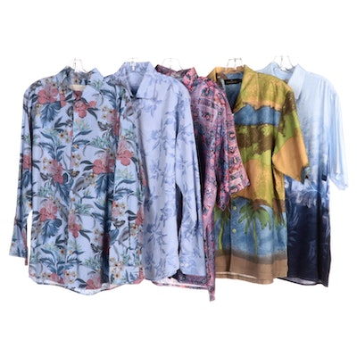 Men's Tasso Elba, Bugatchi, Island Republic and Other Patterned Shirts