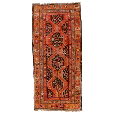 4'3 x 9'4 Hand-Knotted Caucasian Karabagh Area Rug