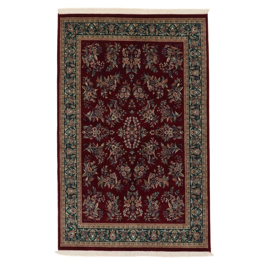5'11 x 9'8 Hand-Knotted Indo-Persian Sarouk Rug, 2000s