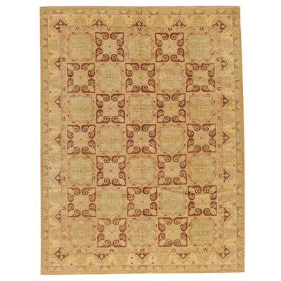 9' x 11'10 Hand-Knotted Pakistani Room Sized Rug