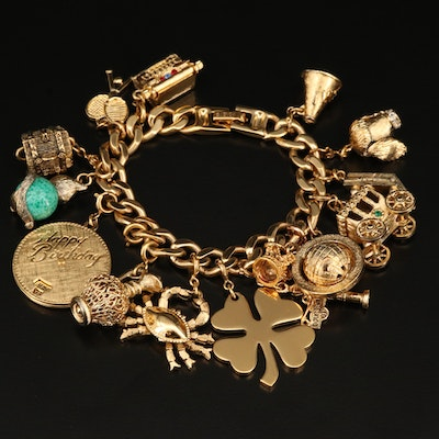 Monet Charm Bracelet with Monet and Other Charms