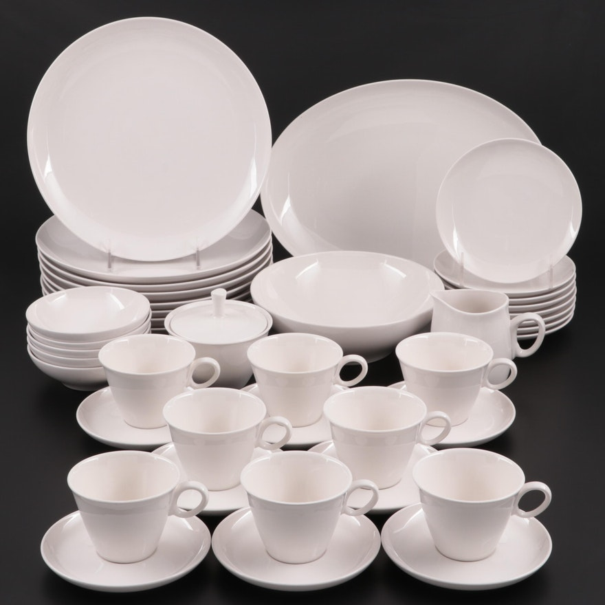 "Franciscan ""Cloud Nine"" White Stoneware Dinnerware, 1960s"